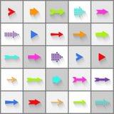 Arrow signs vector set. Colorful arrow signs vector set stock illustration