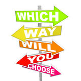 Arrow Signs - Which Way Will You Choose? Royalty Free Stock Photography