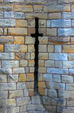 Arrow Slits, Medieval castle. Arrow Slits, ancient stone wall,Medieval castle with texture interest Stock Photography
