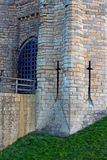 Arrow Slits, Medieval castle. Stock Photos