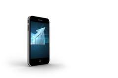 Arrow on smartphone screen Royalty Free Stock Image