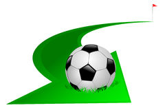 Arrow with soccer ball Royalty Free Stock Photography