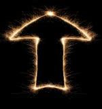 Arrow sparkler Royalty Free Stock Image