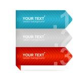 Arrow speech templates for text Stock Image