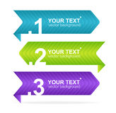 Arrow speech templates for text Stock Photo