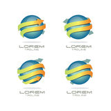 Arrow Sphere Logo. 3d and modern arrow logo Royalty Free Stock Images