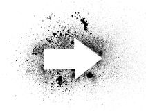Arrow splatter Royalty Free Stock Images