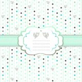 Arrow spring patterned greeting card Stock Images