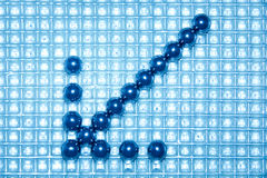 Arrow from steel balls Royalty Free Stock Images