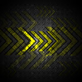 Arrow on steel texture abstract design background Royalty Free Stock Photo