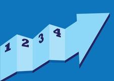 Arrow step-like design Stock Image