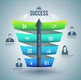 Arrow with step up to success Royalty Free Stock Image