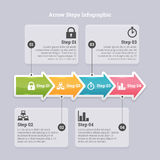 Arrow Steps Infographic Royalty Free Stock Image
