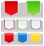 Arrow stickers Stock Photo