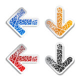Arrow stickers Stock Photo