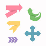 Arrow Stickers Royalty Free Stock Photography