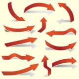Arrow stickers set for web design Stock Photos