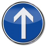 Arrow straight ahead Stock Image