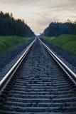 Arrow straight railway. Straight railway leading to Tartu Stock Image