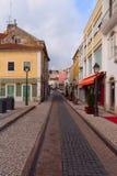 Тarrow streets Alcobaça Stock Images