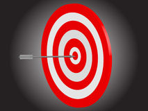 Arrow striking bullseye Royalty Free Stock Image