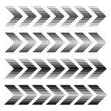 Arrow strip black symbols Royalty Free Stock Photography