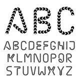 Arrow strip font alphabet letters. Illustration for the web Royalty Free Stock Images