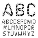Arrow strip font alphabet letters Royalty Free Stock Images