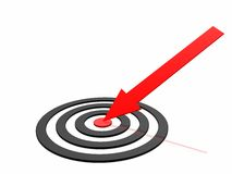arrow success Στοκ Φωτογραφίες