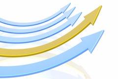 arrow success Стоковое Фото
