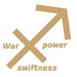 Arrow symbol. Native American Arrow symbol war,power,swiftness on white background Stock Images