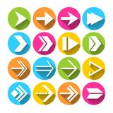 Arrow Symbols Icons Set Royalty Free Stock Photos