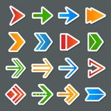 Arrow Symbols Icons Set Stock Photography