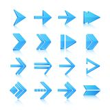 Arrow symbols icons set Royalty Free Stock Image