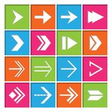 Arrow Symbols Icons Set Stock Images
