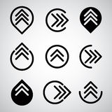 Arrow symbols vector set. Royalty Free Stock Photography