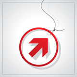 Arrow with tag Stock Photography
