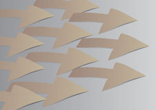 Arrow tag paper craft. Royalty Free Stock Photography