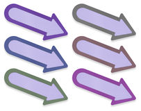 Arrow tag paper craft stick on white Stock Image