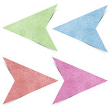 Arrow Tag Recycled Paper Craft Royalty Free Stock Image