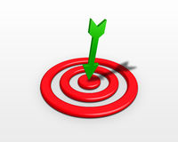 Arrow on target Royalty Free Stock Image