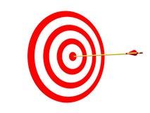 Arrow on Target Royalty Free Stock Photos