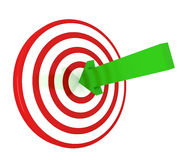 Arrow on target Royalty Free Stock Photography