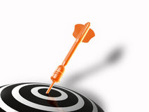 Arrow on the target Royalty Free Stock Photo