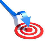 Arrow on target Royalty Free Stock Photos