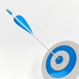 Arrow in target. On white background Royalty Free Stock Images