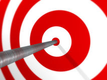 Arrow on Target Royalty Free Stock Photo