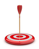 Arrow in target 3D. success hitting. Business stock illustration