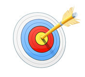 Arrow and target for bow shooting Royalty Free Stock Photos