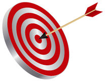 Arrow on Target Bullseye Illustration Stock Photo